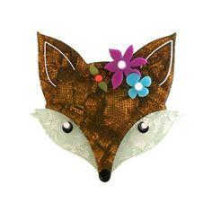 Erstwilder - Flora Fox Face Brooch - 1