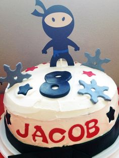 Ninja Cake! Ninja birthday cake martial arts, tae kwon do, karate