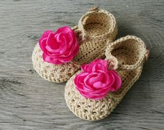WILLOW Cream Flower Baby Girl Shoes, T-strap Crochet Baby Booties, Cream Pink Mary Janes, Size 6-9 months, Readty to Ship by atelierbagatela on Etsy
