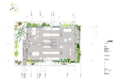 Protótipo Bioclimático de Edifício Jardim,Planta Terceiro Pavimento