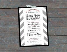 Gender Neutral Baby Shower Invitation  Gray by mabichetteparties, $10.00