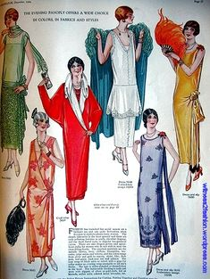 Rapid Change in Fashion: Women, 1924 to 1925 - Evening Wrap Coat and Evening Dresses, December Source by violana - 1920 Style, Style Année 20, Flapper Style, 1920s Flapper, 1920s Fashion Women, Retro Fashion, Vintage Fashion, Classy Fashion, Victorian Fashion