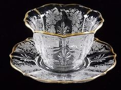 1930's Fostoria Glass Baroque Italian Lace by DianesBargainShack
