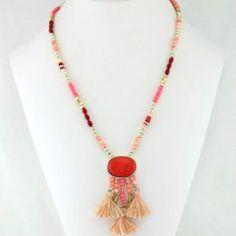 Collier à pendentif rouge #parissima