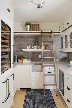 Orono Home Renovation Butlers Pantry Ideas Farmhouse Style Kitchen, Modern Farmhouse Kitchens, White Farmhouse, Home Remodeling Diy, Home Renovation, Kitchen Remodeling, Kitchen Pantry Design, Kitchen Decor, Kitchen Ideas