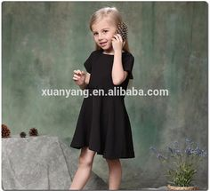 Hot Selling fashion design small girls dress children casual wear dresses for girls of 7 years old