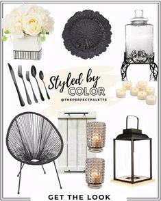 Enova Home Mixed Silk Hydrangea … curated on LTK Black Lantern, Wedding Looks, Get The Look, Chandelier, Ceiling Lights, Black And White, Silk Hydrangea, White Weddings, Shopping