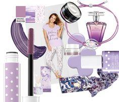 """Τα 5 """"hot"""" χρώματα της φετινής Άνοιξης - AvonBlog Purple Color Palettes, Purple Palette, Perfume, Pantone, Cosmetics, Lady, How To Make, Beauty Products, Tutorials"""