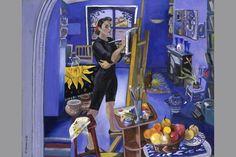 Women and Art: Pioneering Feminist Journal on Women in the Art World: Self Portrait In The Studio by Isy Ochoa, oil on canvas, 1993