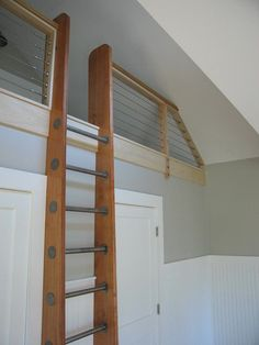 Ship's Ladder for Loft/Library/Attic - Custom Built - Natural Wood & Stainless in Home & Garden, Furniture, Other Home Furniture