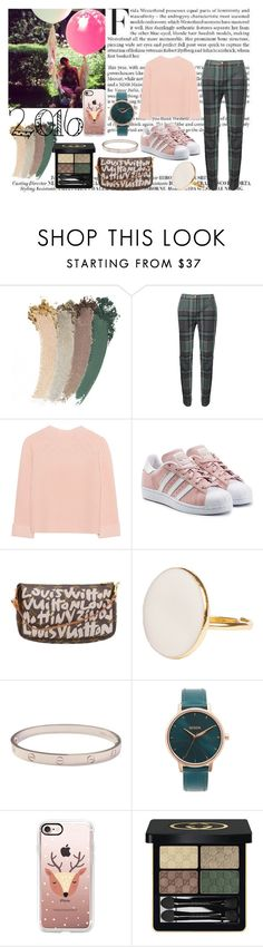 """"""":) #fashion #Pink #2016 #style"""" by kennapetite ❤ liked on Polyvore featuring Gucci, Vivienne Westwood Red Label, iHeart, adidas Originals, Louis Vuitton, Cartier, Nixon and Casetify"""