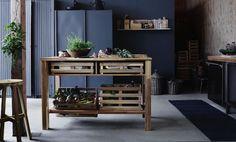 The perfect items for a calm zen-like home. SKOGSTA, IKEA