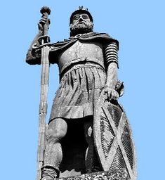 Sir William Wallace Knight and Guardian of Scotland Battle of Stirling Bridge. Scottish hero and champion of Scottish independence who beat Edward I at the battle of Stirling Bridge, was captured by the English and later executed as a traitor. William Wallace, Battle Of Stirling Bridge, Stirling Scotland, Wallace Monument, Scottish Independence, My Ancestors, Scottish Clans, Glasgow, Knight