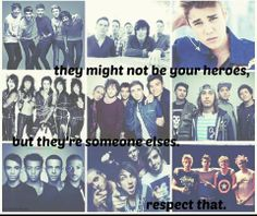 True.... don't say hurtful things about these guys to other people. You don't know how these bands may have affected their life. #RESPECT!!!