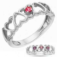 Mother's ring | Mother's Rings - 14k White Gold Original Mother's Ring Holds 1-5 2.5mm ...