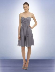 """BRIDESMAIDS DRESSES!!! Bill Levkoff - Bridesmaid Dress Style 323 - in """"Pewter"""""""