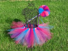 Abby Cadabby tutu and wand setGirls Birthday by TheSugaredRibbon. Love the bright colors!