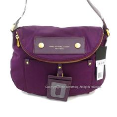Marc by Marc Jacobs Preppy Nylon Mini Natasha Crossbody Pansy Purple NWT #MarcbyMarcJacobs #MessengerCrossBody