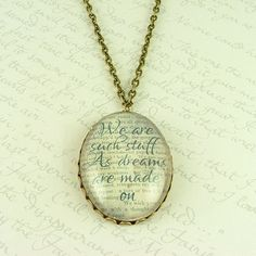 Shakespeare's The Tempest Glass Necklace - Jezebel Charms