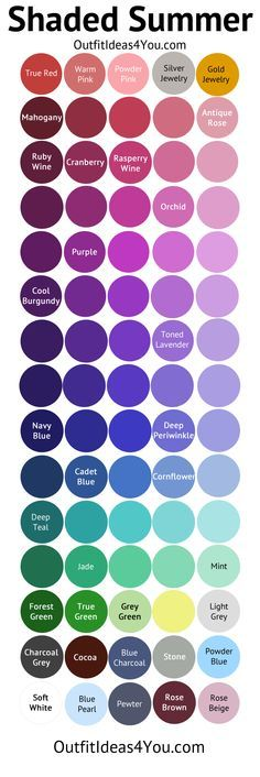 Shaded Summer Color Palette (Soft Summer Deep)