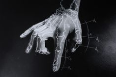 """The Body,"" a series by Alan Herbert    This is produced by a hand drawn photogram on top of a medium format photo."