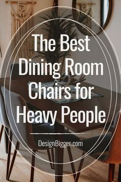 Best Dining Room Chairs for Heavy People (up to lbs) Dining Room Sets, Dining Table Chairs, Banquet Seating, Big People, Best Dining, Restaurant Chairs, Cool Chairs, Good Things, Dinner