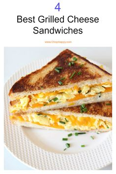 The Best Breakfast Grilled Cheese – Chop Happy Breakfast Grilled Cheese is my crunchy, cheesy, and creamy fast dinner reward for a happy long day! This would work great as an on-the-go breakfast as well! Fast Dinner Recipes, Fast Dinners, Brunch Recipes, Breakfast Recipes, Quick Meals For Dinner, Simple Recipes For Dinner, Quick And Easy Breakfast, Breakfast For Dinner, Best Breakfast