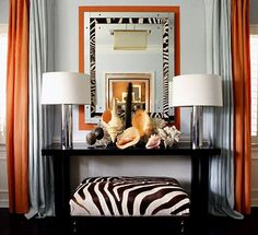 Art Deco interior style: its main characteristics and features. Tips on Art Deco interior creation. Walls, floor and cieling finish in Art Deco style. How to choose furniture and decorative accessories for Art Deco interior. Decor, Room, Colorful Interiors, Interior, Living Room Orange, Home Decor, Gray Interior, Interior Design, Orange Dining Room