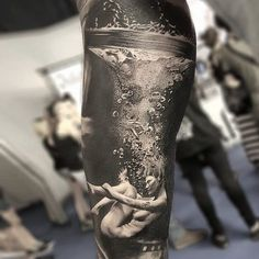 Beautifully Done.  The Water & The Motion Given It In This Tattoo Is Just Mind Blowing