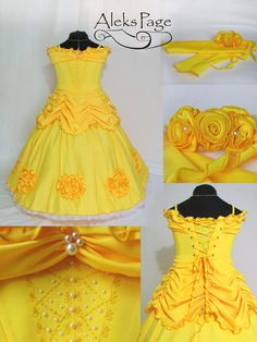 Belle Cosplay Dress/ Belle Ball Gown/ Beauty and the por AleksPage