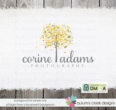 Premade Logo Design  Tree Leaves Photography Logo by autumnscreek