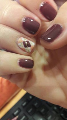 Brown chocolate nails