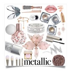 """""""Metallic Beauty"""" by mistylake ❤ liked on Polyvore featuring beauty, Sole Society, Bobbi Brown Cosmetics, Christian Dior, Illamasqua, Lime Crime, NYX, Ilia, Miss Selfridge and Anne Sisteron"""