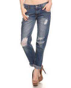 Boyfriend Distressed Jeans