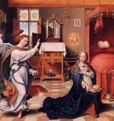 Joos van Cleve, The Annunciation (c. 1525, Metropolitan Museum of Art, New York)