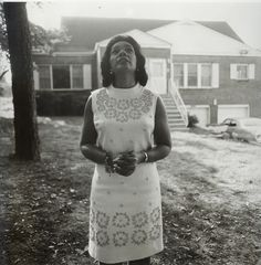 Coretta Scott King on the day of her husband's funeral. 1968. Sunset Avenue, Atlanta, Ga. Diane Arbus.