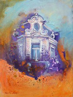 Wiesbadener Motive- Sophienstrasse- 30x40 oil on canvas