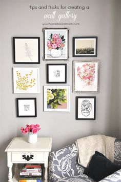Tips and Tricks for creating a Wall Gallery  @minted  #mintedart