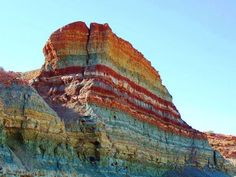 Rainbow Sediment Stratum Oued Metlili Ghardaia Algeria #Geology #GeologyPage