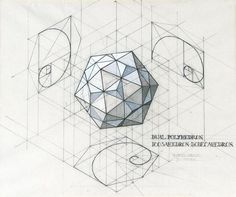 Phi - 1:1.618 - the Golden Ratio and Fibonacci number are embedded in both Icosahedron and Dodecahedron...  Image: Rafael Araujo Thanks due Jamie Janover