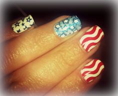 4th of July manicure!