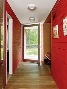 A Modern Red Barn | Honeysuckle Life