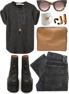 """""""get catty"""" by ffeathered ❤ liked on Polyvore"""