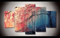 At Octo Treasures we specialize in high quality large multi-panel wall canvas, purchase this amazing red maple tree forest wall canvas today we will ship the canvas for free. This is the perfect centerpiece for your home. It is easy to assemble and hang the panels together which makes this a great gift for your loved ones. The multi panel canvas is unique and creative, you and your guests will be amazed every time you enter the room. We offer professional packaging for every painting you…