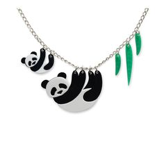 Panda Family Necklace | Little Moose | Quirky jewellery and playful accessories that raise a smile and stand out from the crowd
