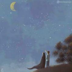 kumpulan kartun romantis parf 3 - my ely Love Cartoon Couple, Cute Couple Comics, Cute Couple Art, Iran Pictures, Islamic Pictures, Gif Pictures, Couple Pictures, Cute Muslim Couples, Cute Couples
