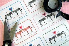 Zebra Valentine's Day Cards