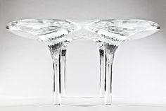 zaha hadid unveils prototype liquid glacial table - designboom | architecture
