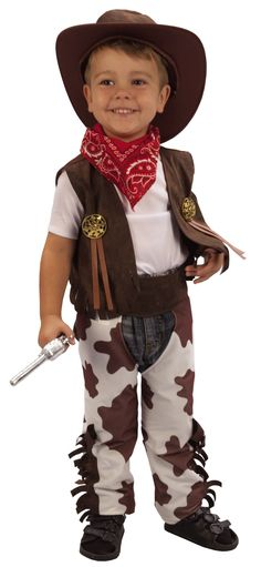 Cowboy Fancy Dress Toddler Costume Age 3