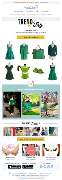 ModCloth st. patty's day email 2014